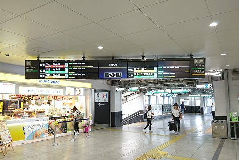 南海 堺東駅 LCD行先表示器