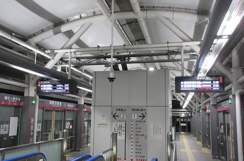 日暮里・舎人ライナー 西日暮里駅 LCD行先表示器
